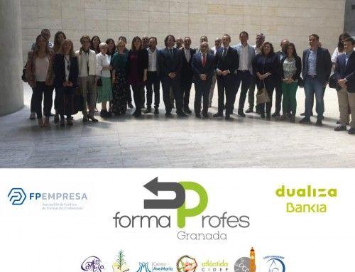 Presentación del proyecto FormaProfes FP Dual Granada, en el que colaboran varios centros de FP de Granada.