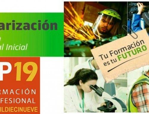 Calendario de escolarización en Formación Profesional para el curso 2019/2020